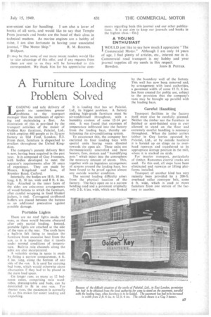 A Furniture Loading Problem Solved 15th July 1949 The