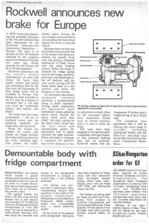 Demountable body with fridge compartment | 28th March 1975