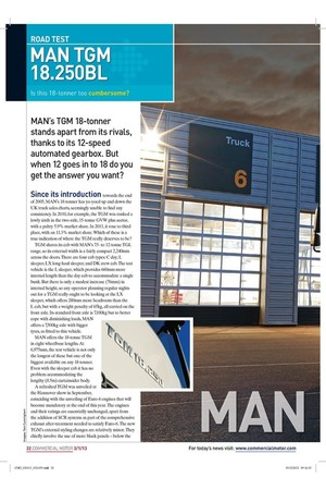 MAN's TGM 18-tonner stands apart from its rivals, | 3rd